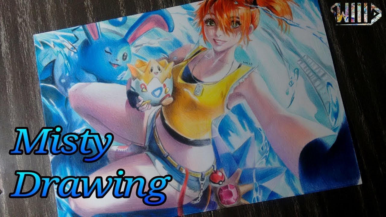 Drawing - Misty (Pokemon)