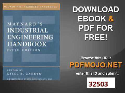 Download maynard s industrial engineering handbook (mcgraw-hill stand….