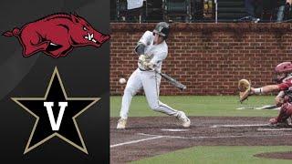 Arkansas Razorbacks vs Vanderbilt Commodores | College Baseball Highlights