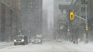 Today Winter Storm in Toronto downtown February 12 2019