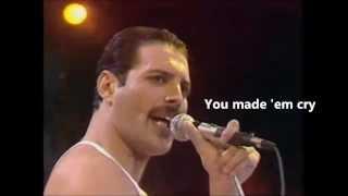Queen Radio ga ga live + lyrics