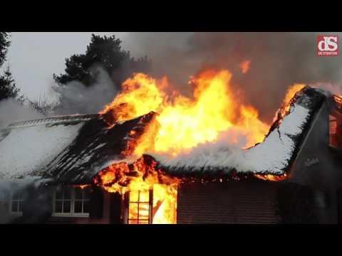 Huis volledig verwoest in Heerde door brand