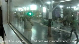 Sleeper train Thailand Sleeptrain Hualamphong Bangkok bench seats converted to beds upperbed