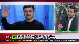 Showtime in Kiev: Presidential hopeful, comic Zelensky, plays president Poroshenko during debates