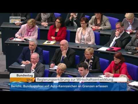 Bundestag: Regierungserklärung zur Wirtschaftsentwicklung am 26.01.2017