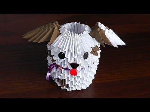 Модульное оригами собака