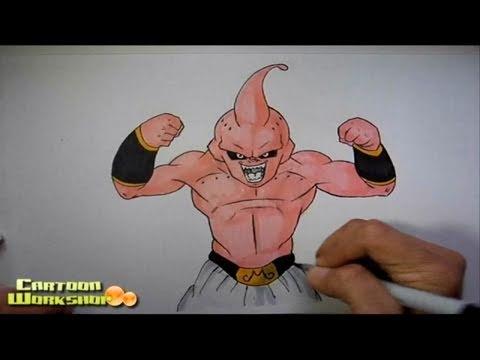 How to draw kid buu [Dragonball z]