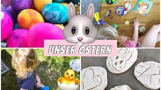 Live Reaktion der Kinder | Ostern 🐰 | Eier färben & Salzteig machen | Isabeau