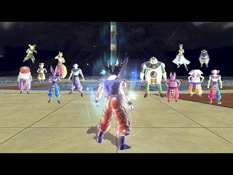 Ultra Instinct Goku vs All 12 Gods of Destruction - Dragon Ball Xenoverse 2