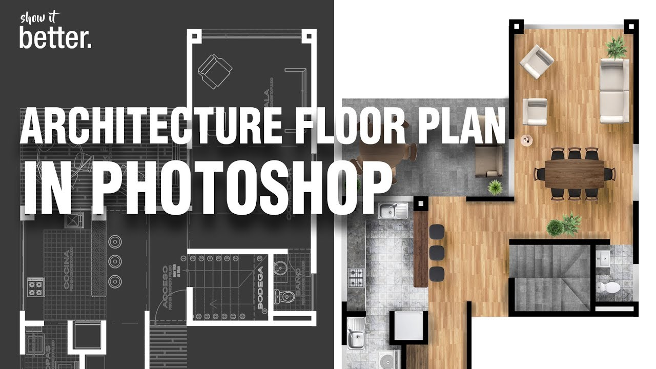 Architecture Floor Plan In Photoshop