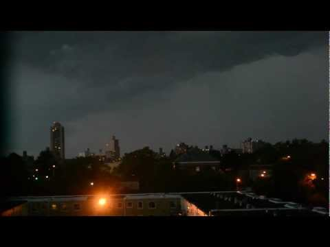 07/26/2012: Severe Thunderstorm Warning/Tornado Watch - New York City, NY. (Raw Footage)