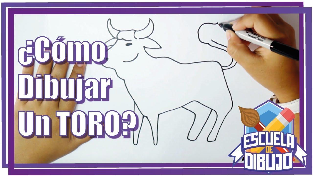 Como Dibujar Un Toro Dibujo De Un Toro Paso A Paso Youtube