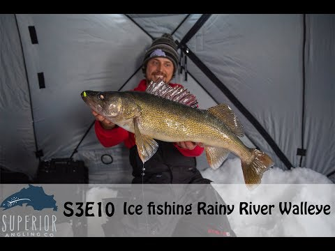 Ice Fishing The Rainy River - Amazing Action With Big Fish!