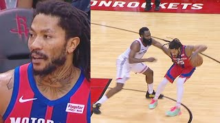 Derrick Rose Shocks Rockets With Crazy MVP Takeover In Final Minutes! Rockets vs Pistons