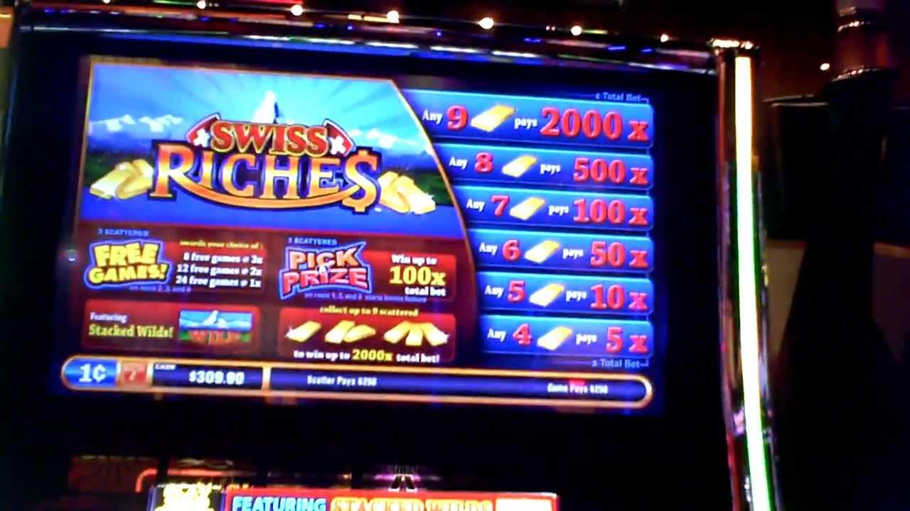 Swiss riches slot machine bonus win at revel casino in for List of slot machines at motor city casino