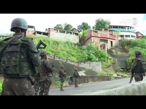 Army And Police In Show Of Force In Rio De Janeiro Slums