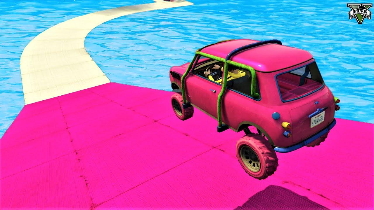 GTA 5 🐸 Insane Mini Cooper Arena War Parkour