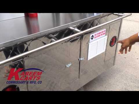 Frying Food Trailer Cart By Kareem Carts