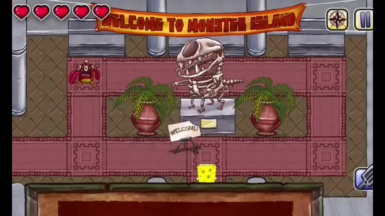 Игра губка боб монстры мультфильм губка боб новые серии игры