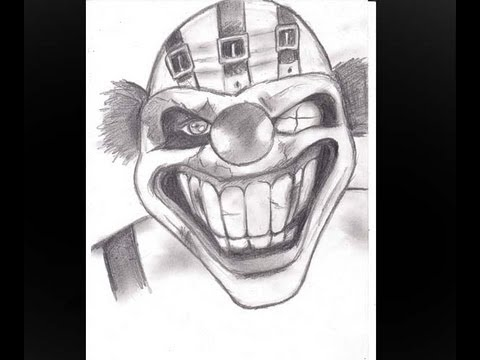 How To Draw Sweet Tooth New Twisted Metal On Ps3 Youtube