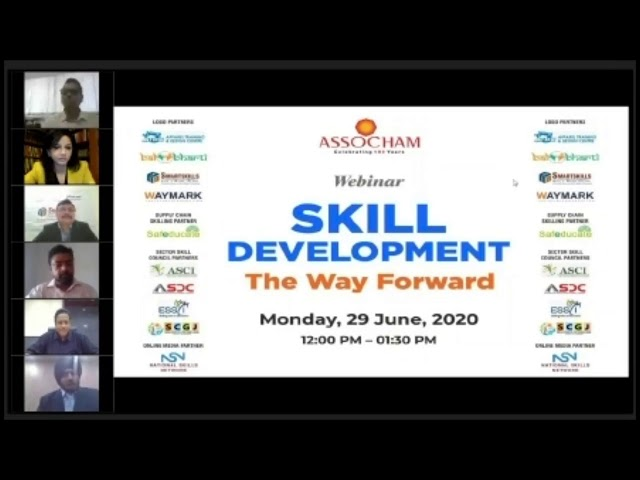 "Webinar on : ""Skill development - The Way Forward"""