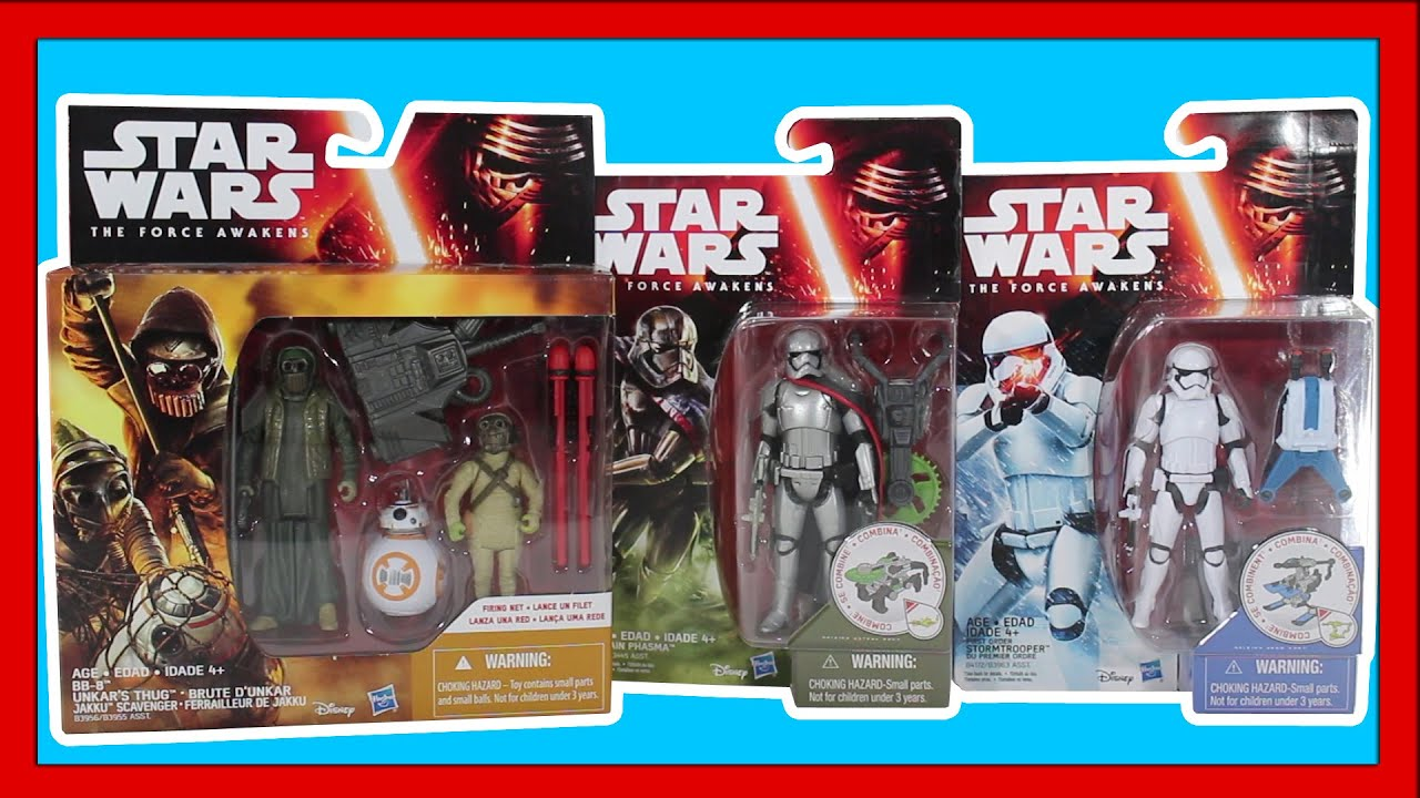 f2f360148e Disney Star Wars Toys The Force Awakens Action Figures Unboxing Youtube  Video