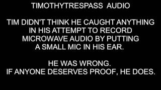 TIMOTHYTRESPAS DIDN'T THINK HE CAUGHT ANYTHING WHEN HE RECORDED HIS EAR WITH A MIC...