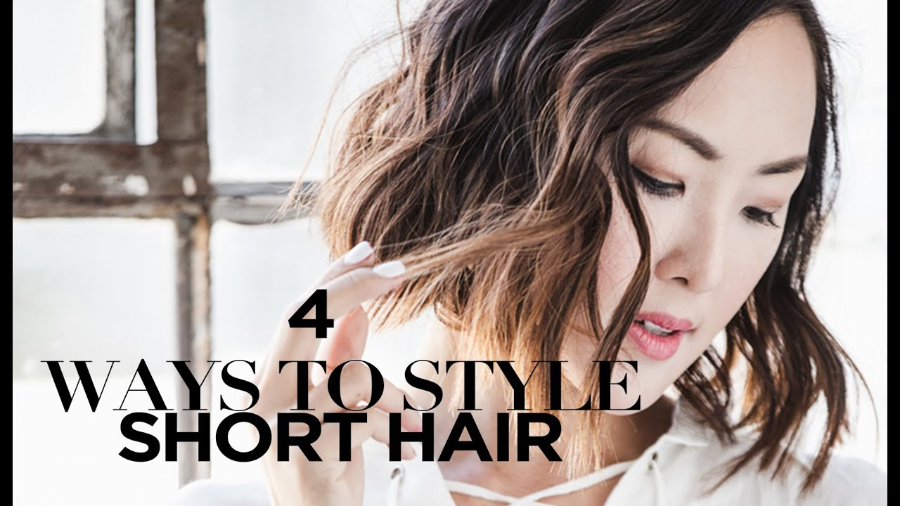 youtube short hair styling 4 ways to style hair chriselle lim 7328 | maxresdefault