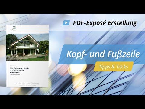 PDF Exposé: Kopf- & Fußzeile  | onOffice Software