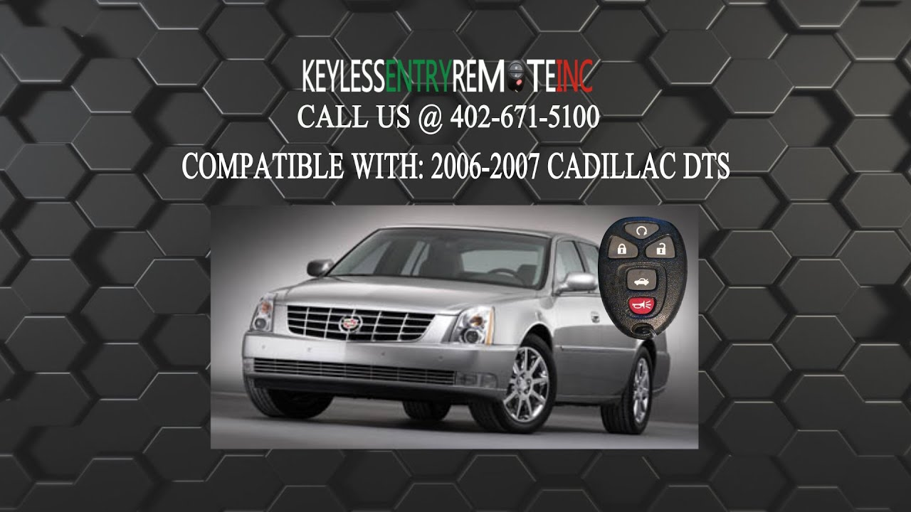 How To Replace Cadillac Dts Key Fob Battery 2006 2007
