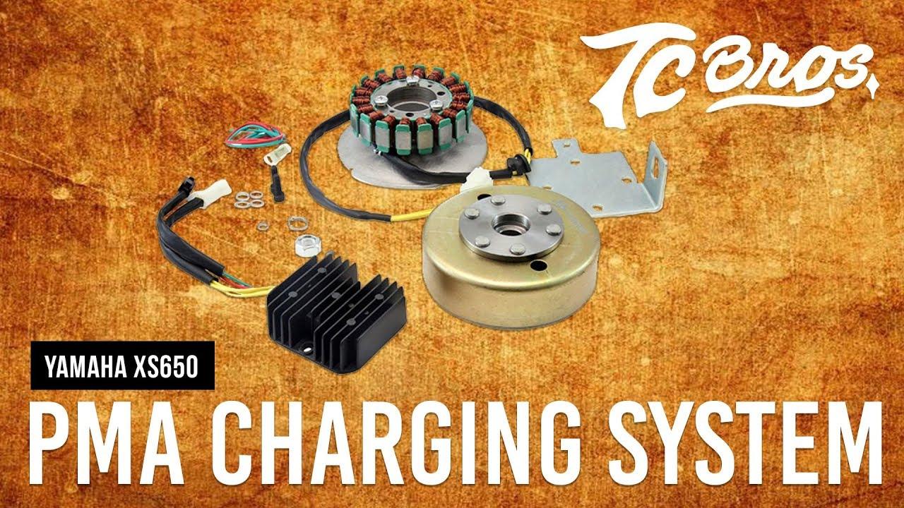xscharge yamaha xs650 permanent magnet alternator conversion review by tc bros  [ 1280 x 720 Pixel ]