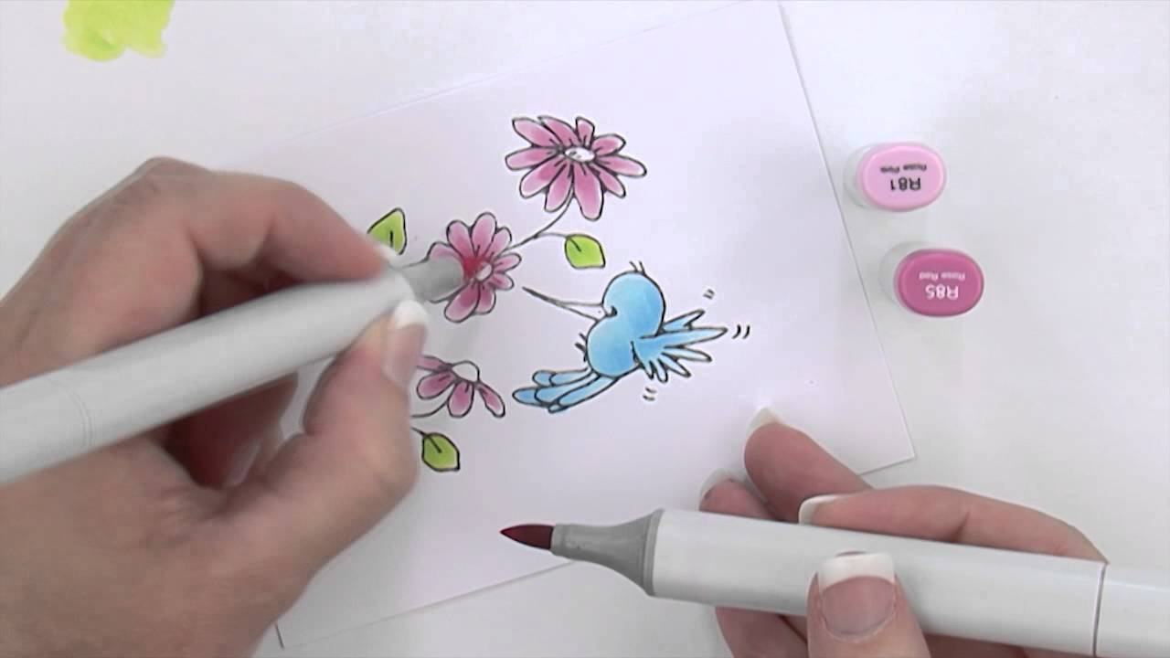 Copic® Coloring Guide - Copic Marker Project Demonstration - YouTube