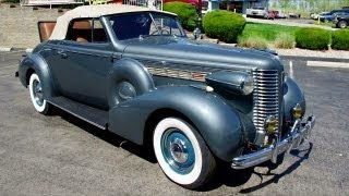 1938 Buick Special Convertible Dynaflash Straight Eight Engine - Rumble Seat