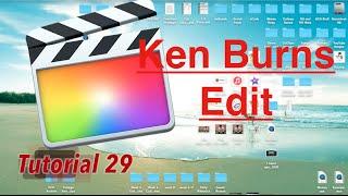 Ken Burns in Final Cut Pro 10.2.1 | Tutorial 29
