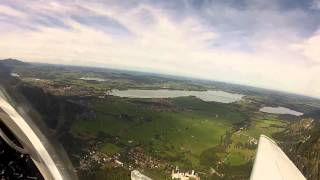 Flying around Neuschwanstein and hohenschwangau castles