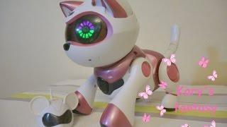 Моя кошечка Текста Китти. Интерактивная игрушка-робот Teksta Kitty.