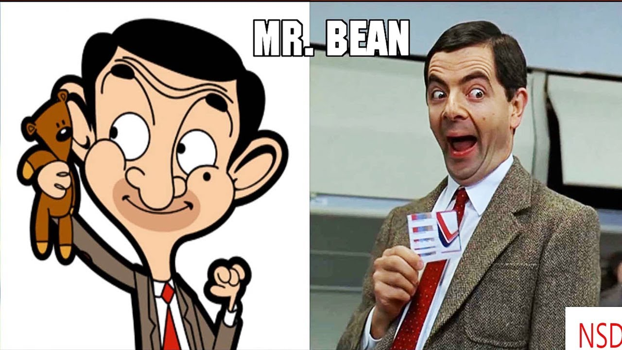 Mr Bean Cartoon Characters In Real Life 2018