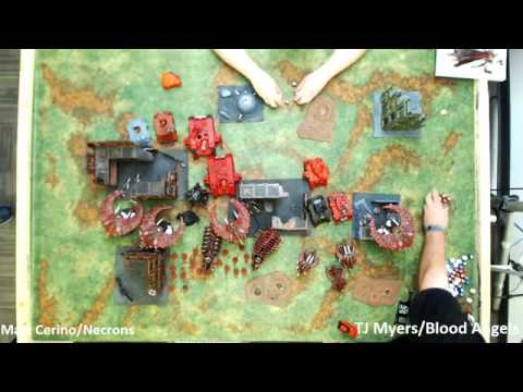 Warhammer 40k 7th Edition Release #7: Gamecast 7.1 Blood Angels (TJ Myers) vs. Necrons (Matt Cerino)