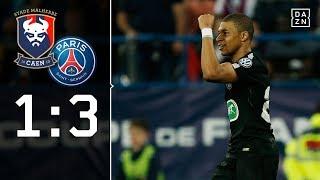 Mbappes Doppelpack und VAR-Ärger mit Cavani: Caen - Paris 1:3   Highlights   Coupe de France   DAZN