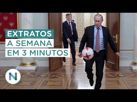 Extratos: o início da Copa do Mundo. O encontro Trump-Kim. E mais.