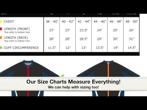 College Cycling Jerseys- Sizing Guidelines