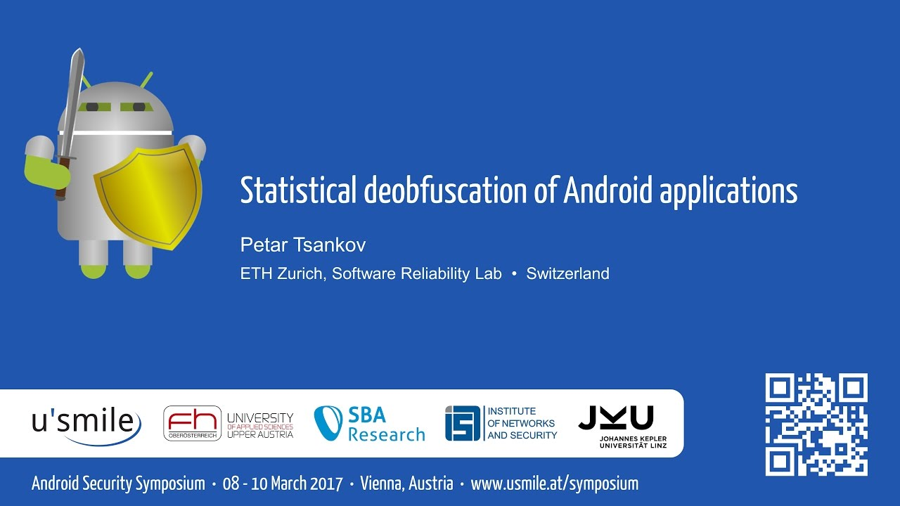 Statistical deobfuscation of Android applications (by Petar Tsankov)