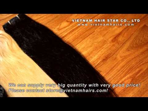 Customized machine weft hair