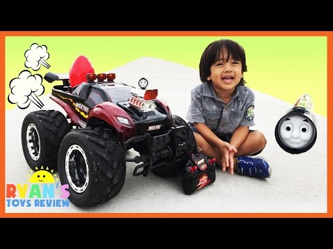 Thumbnail: GIANT RC MONSTER TRUCK Remote Control toys Cars for kids Playtime at the Park Egg Surprise