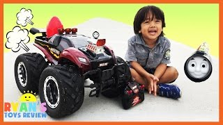 GIANT RC MONSTER TRUCK Remote Control toys Cars for kids Playtime at the Park Egg Surprise