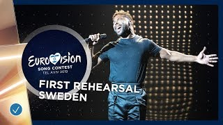 Sweden 🇸🇪 - John Lundvik - Too Late For Love - First Rehearsal - Eurovision 2019