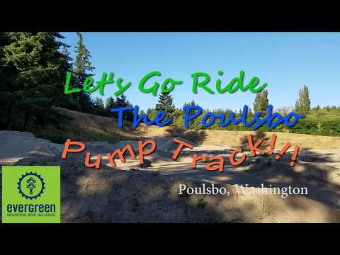 Riding the Poulsbo Pump Track,  Evergreen MTB Alliance