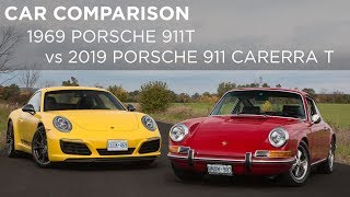 Car Comparison | 2019 Porsche 911 Carrera T vs 1969 Porsche 911T
