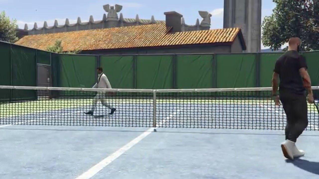 GTA ONLINE - играем в теннис   big tennis