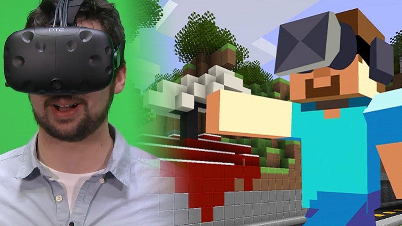 Minecraft In VR Mit HTC Vive Einfach Nur Atemberaubend Gameplay - Minecraft vr spielen
